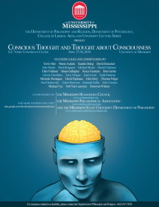 Consciousness Poster 4-14 Update